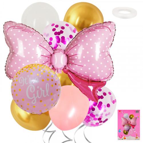 Комплект балони с панделка IT'S A GIRL