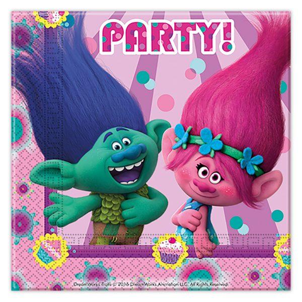 Парти салфетки Тролчета (Trolls) | Laila Party