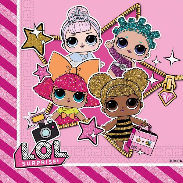 Парти салфетки Кукли LOL