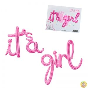 Фолиев надпис It's a girl